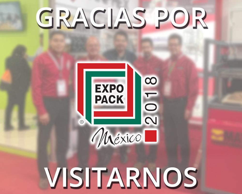 Gracias por su visita en Expo Pack 2018