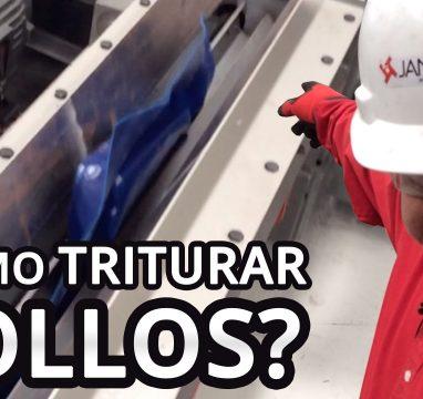 ¿Cómo moler rollos de plástico?